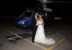 Strip Helicopter Wedding